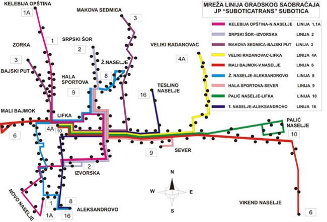 Mapa Mreza Jp Subotica Trans